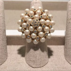 NWOT Vintage Pearl Cluster Ring
